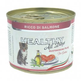 Healthy All Days SALMON KITTEN влажный корм для котят ЛОСОСЬ