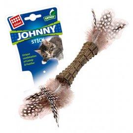 GiGwi (Гигви) Catnip СПРЕСОВАННАЯ КОШАЧЬЯ МЯТА игрушка для котов с перьями, 8 см