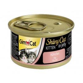 Gimcat Shiny Cat in jelly KITTEN (КУРИЦА В ЖЕЛЕ) консервы ДЛЯ КОТЯТ 70 г