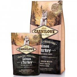 Carnilove SALMON & TURKEY LARGE BREED PUPPY (ЛОСОСЬ И ИНДЕЙКА) корм для щенков крупных пород