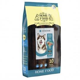 Home Food ФОРЕЛЬ С РИСОМ И ОВОЩАМИ - гипоаллергенный корм для собак КРУПНЫХ ПОРОД