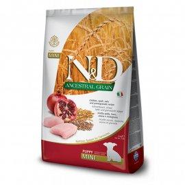 Farmina (Фармина) N&DLowGrainChicken&PomegranatePuppyMiniкорм для щенков мелких пород КУРИЦА и ГРАНАТ