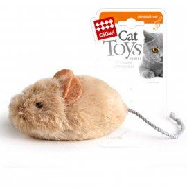 GiGwi (Гигви) Melody Chaser МЫШКА игрушка для котов со звуковым чипом, 13 см