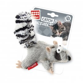 GiGwi (Гигви) Catch&Scratch ЕНОТ игрушка для котов с кошачьей мятой, 8 см