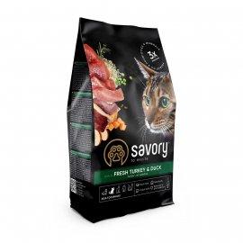 Savory (Сейвори) ADULT CAT TURKEY & DUCK корм для взрослых кошек УТКА и ИНДЕЙКА