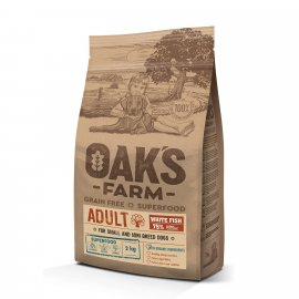 Oak's Farm White Fish Adult Small and Mini беззерновой корм для взрослых собак малых и мини пород БЕЛАЯ РЫБА