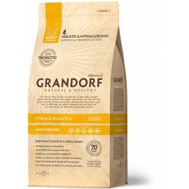 Grandorf (Грандорф) STERILIZED 4 MEAT & BROWN RICE (4 ВИДА МЯСА/КОРИЧНЕВЫЙ РИС) корм для стерилизованных кошек