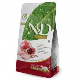 Farmina (Фармина) N&D Grain Free Prime Chicken & Pomegranate Neutered Adult корм для стерилизованных кошек КУРИЦА и ГРАНАТ