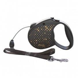 Flexi STANDARD поводок-рулетка для собак ТРОС S, черный  (5 м; до 12 кг)