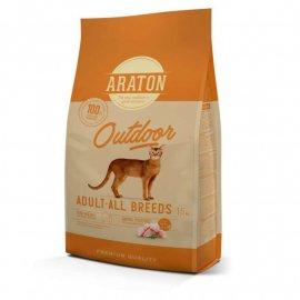 Araton (Аратон) ADULT ALL BREEDS OUTDOOR сухой корм для активных кошек КУРИЦА И ИНДЕЙКА