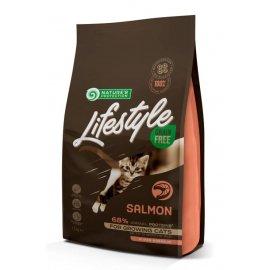 Natures Protection Lifestyle GRAIN FREE SALMON KITTEN беззерновой корм для котят ЛОСОСЬ