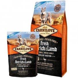 Carnilove FRESH OSTRICH & LAMB SMALL BREED корм для собак малых пород СТРАУС и ЯГНЕНОК