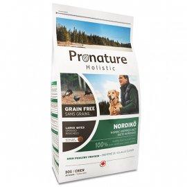 Pronature Holistic (Пронатюр Холистик) NORDIKО LARGE BITES беззерновой корм для собак средних и крупных пород ИНДЕЙКА С ЯГОДАМИ