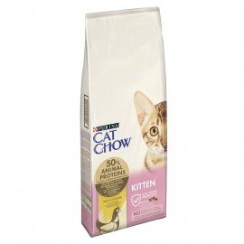 Cat Chow (Кет Чау) Kitten (КИТТЕН) Корм для котят с курицей