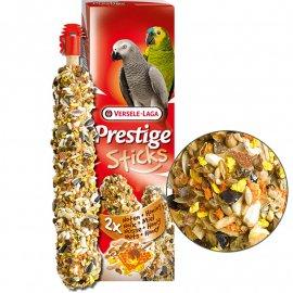 Versele-Laga (Верселе-Лага) Prestige STICKS PARROTS NUTS & HONEY лакомство для крупных попугаев, ОРЕХИ С МЕДОМ 140 г (2 шт.)