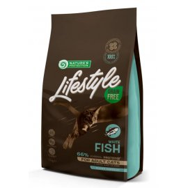 Natures Protection Lifestyle GRAIN FREE WHITE FISH ADULT беззерновой корм для взрослых кошек БЕЛАЯ РЫБА