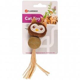 Flamingo CATNIP OWL игрушка с кошачьей мятой для котов