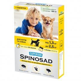 SUPERIUM Spinosad (Спиносад) таблетка от блох для котов и собак (с действующим веществом природного происхождения!)