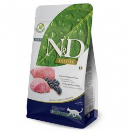 Farmina (Фармина) N&D Grain Free Prime Lamb & Blueberry Adult беззерновой корм для взрослых кошек ЯГНЕНОК и ЧЕРНИКА