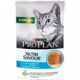 Purina Pro Plan (Пурина Про План) Nutrisavour STERILISED консервы для стерилизованных кошек, кусочки трески в паштете