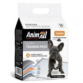 AnimAll одноразовые пеленки для собак и щенков с активированным углем, 60 х 60 см