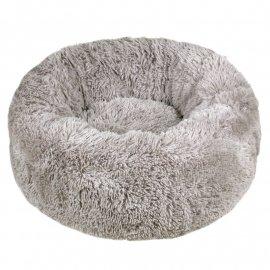 Red Point DONUT лежак со съемной подушкой для собак и кошек ПОНЧИК, серый