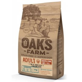 Oak's Farm White Fish Adult беззерновой корм для взрослых кошек БЕЛАЯ РЫБА