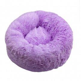 Red Point DONUT лежак со съемной подушкой для собак и кошек ПОНЧИК, лавандовый