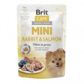 Brit Care MINI FILLETS RABBIT & SALMON консервы для собак мелких пород КРОЛИК И ЛОСОСЬ В СОУСЕ