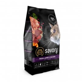 Savory (Сейвори) STERILIZED CAT корм для стерилизованных кошек ЯГНЕНОК и КУРИЦА