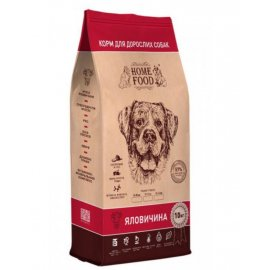 Home Food ГОВЯДИНА - полнорационный корм для собак СРЕДНИХ ПОРОД