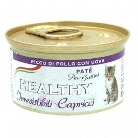 Healthy IrrCap CHICKEN & & EGGS KITTEN влажный корм для привередливых котят КУРИЦА и ЯЙЦА