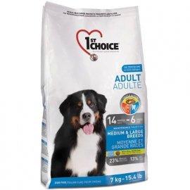 1st Choice (Фест Чойс) ADULT MEDIUM & LARGE BREED (ЭДАЛТ СОБАКИ СРЕДНИХ И КРУПНЫХ ПОРОД) корм для собак