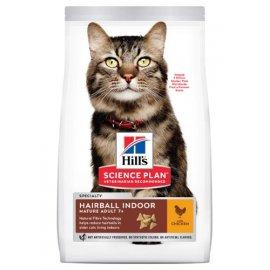 Hills SP Mature Adult 7+ Hairball Indoor корм для выведения шерсти у пожилых кошек
