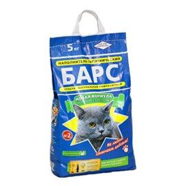 БАРС №2 крупный с ароматом лаванды - впитывающий наполнитель для кошачьего туалета, 5 кг