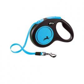 Flexi NEW NEON поводок-рулетка для собак М, лента (5 м / 25 кг)