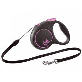 Flexi BLACK DESIGN поводок-рулетка для собак ТРОС S (5 м, до 12 кг)