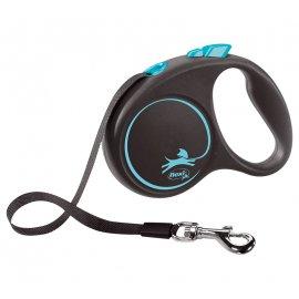 Flexi BLACK DESIGN поводок-рулетка для собак ЛЕНТА S (5 м, до 15 кг)