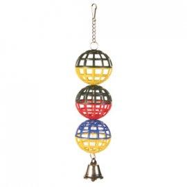Trixie пластиковые шарики с колокольчиком (5251)