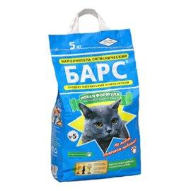 БАРС №5 мелкий с ароматом лаванды - наполнитель для кошачьего туалета, 5 кг