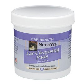 Nutri-Vet (Нутри-Вет) ЧИСТЫЕ УШИ влажные салфетки для гигиены ушей котов, 90 шт.