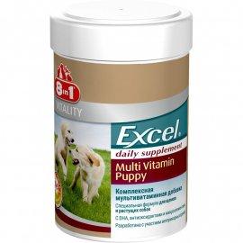 8in1(8в1) EXCEL MULTI VITAMIN PUPPY (ЕКСЕЛЬ МУЛЬТИВИТАМИНЫ ПАППИ) пищевая добавка для щенков, 100 табл. + набор В ПОДАРОК