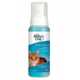 8in1 SHED CONTROL ALOE VERA шампунь-пена безводный против линьки для кошек