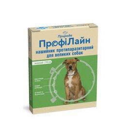 Природа ПрофиЛайн ошейник от блох и клещей для собак, зеленый 70 см