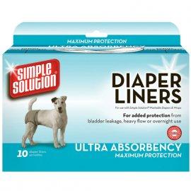 Simple Solution Disposable Diaper Liners-Heavy Flow ULTRA - Гигиенические прокладки для собак МАКСИМАЛЬНАЯ ЗАЩИТА (10 шт.)