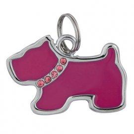 Trixie (Трикси) СОБАКА СО СТРАЗАМИ медальон-адресник для собак (22761)