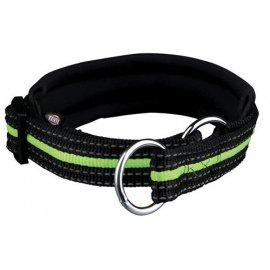 Trixie (Трикси) FUSION (СВЕТООТРАЖАЮЩИЙ) ошейник - удавка для собак, черный/зеленый (2064)