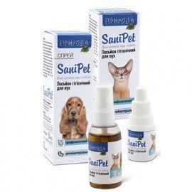 Природа SANIPET (САНИПЕТ ОБРАБОТКА УШЕЙ) лосьон для котов и собак