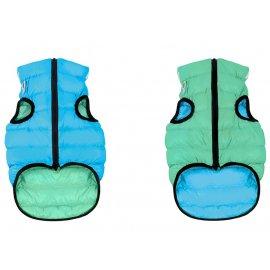 Collar (Коллар) AIRY VEST LUMI двухсторонняя куртка для собак СВЕТЯЩАЯСЯ, салатово-голубая