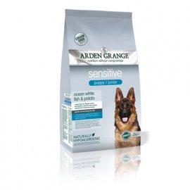 Arden Grange Sensitive Puppy/Junior - сухой корм для щенков и молодых собак с деликатным желудком и чувствительной кожей (белая рыба и картофель)